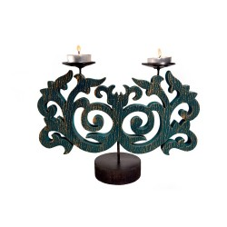 Wooden & Metal Candle stand