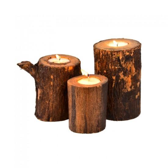 Sagwan Wooden candle