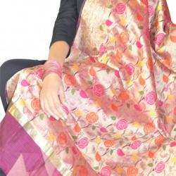 Buy silk printed multicolour dupatta/ stole for women.