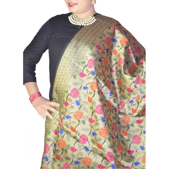 Buy floral print colourful dupatta for ladies.