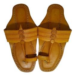 Buy designer leather kolhapuri chappal for men