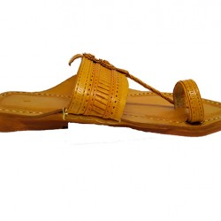 Buy Lightweight leather kolhapuri chappal for men