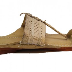 Buy classic skin colored kolhapuri footwear for men.