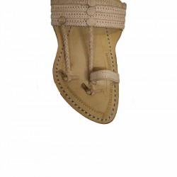 Buy skin colored flat sole ethnic kolhapuri chappal.