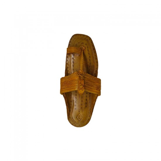 Buy attractive tan colored thick sole kolhapuri chappal for men