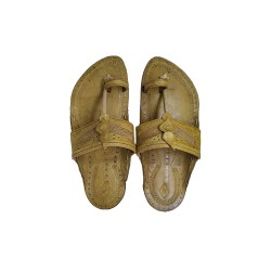Buy leather Colored designer Kolhapuri Chappal for Men
