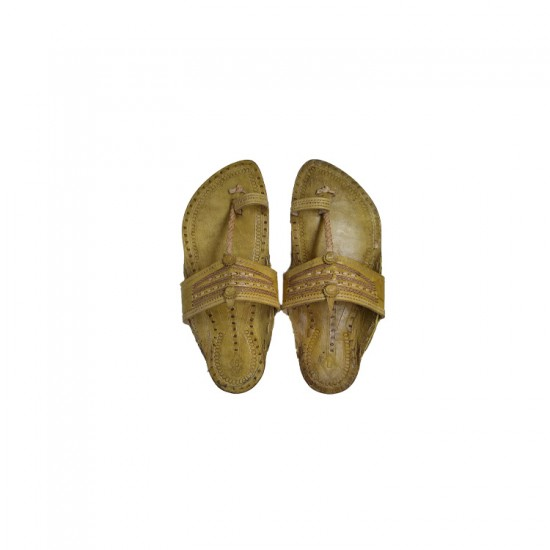 Buy Skin Colored traditional Kolhapuri Chappal for Men
