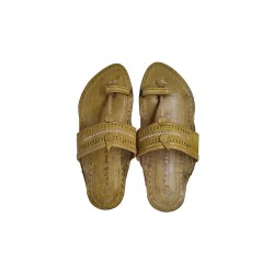 Buy Skin Colored sober Kolhapuri Chappal for Men