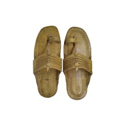 Buy Skin Colored fancy Kolhapuri Chappal for Men