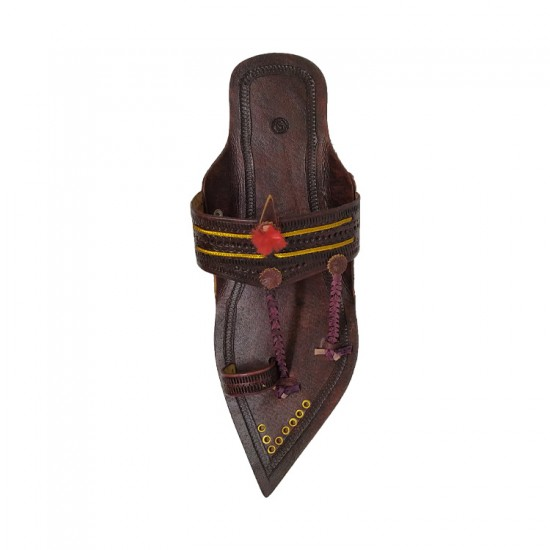 Buy Blackish brown designer Kolhapuri Chappal for Men