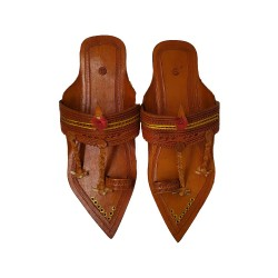 Buy Brown Colored designer Kolhapuri Chappal for Men