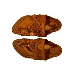 Shahu Maharaj Pattern original leather kolhapuri chappal for men
