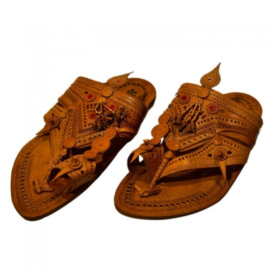 Shahu Maharaj Pattern original leather kolhapuri chappal for men
