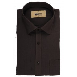 Buy plain black color muslin khadi shirt for men.
