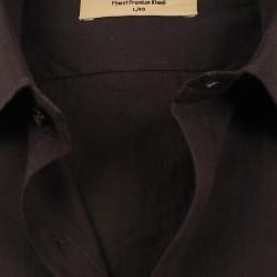 Buy plain black color muslin khadi shirt for men.