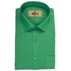 Buy Plain Fluorescent Green Original Muslin Khadi Shirt