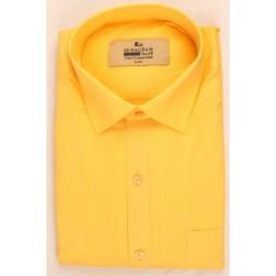 Buy yellow colored plain khadi shirt with full & half sleeves.