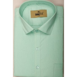Buy pista colored plain khadi shirt with full & half sleeves