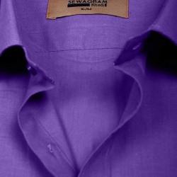Buy purple colored khadi shirt with full & half sleeves