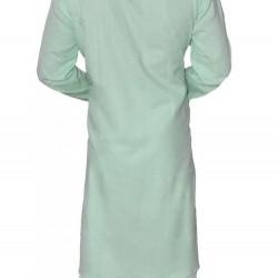 Buy light green colored premium khadi long kurta for men