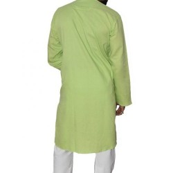 Buy Premium Quality Parrot green Khadi long kurta for Men.