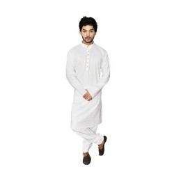 Buy white khadi kurta with Smart Kolhapuri chappal for Men