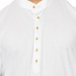 Buy premium khadi white kurta with Designer Kolhapuri chappal