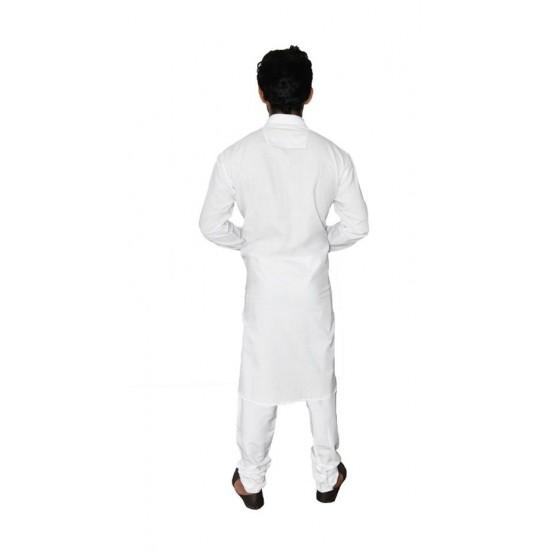 Buy white khadi kurta with Smart Kolhapuri chappal for Men