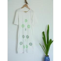 Buy white cotton khadi ladies kurta