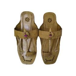 Buy pure leather kolhapuri chappal for women.