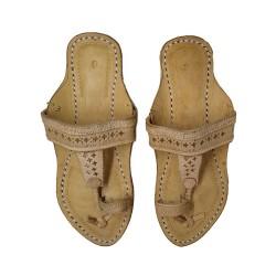 Buy original leather ladies kohapuri chappal.