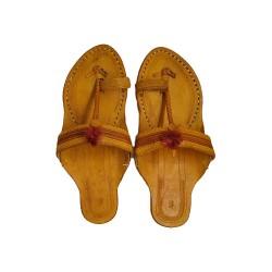 Buy original leather kolhapuri chappal for women.