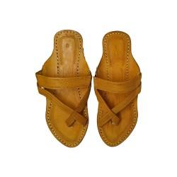Buy Yellow Colored Ladies Kolhapuri Chappal