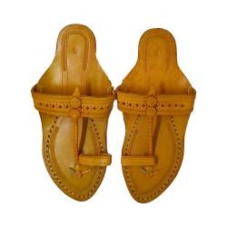 Buy Yellow Colored ladies designer Kolhapuri Chappal