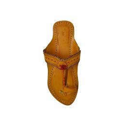 Buy Tan Colored Sober ladies Kolhapuri Chappal