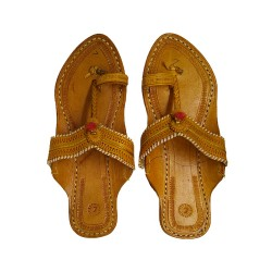 Buy Tan Colored designer ladies Kolhapuri Chappal