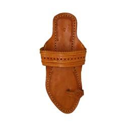 Buy Brown Colored designer Ladies Kolhapuri Chappal