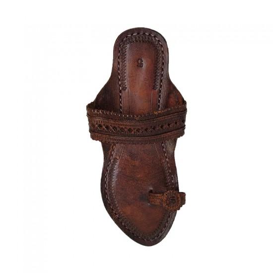 Buy Blackish Brown Colored Ladies Kolhapuri Chappal
