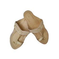 Buy Skin Colored simple Kolhapuri Chappal for women