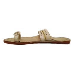 Buy Skin Colored ladies designer Kolhapuri Chappal