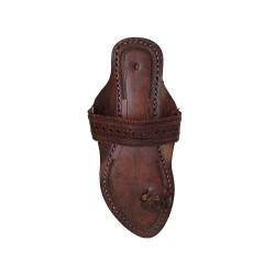 Buy Blackish Brown Colored Ladies fancy Kolhapuri Chappal
