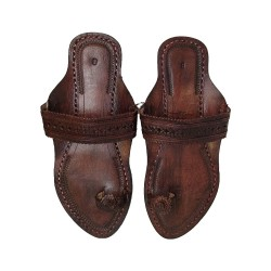 Buy Blackish Brown Colored Ladies fancy Kolhapuri Chappal