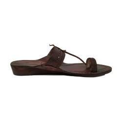 Buy Simple & Sober Blackish Brown ladies Kolhapuri Chappal