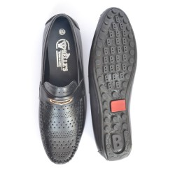 Buy Black casual loafers for men.