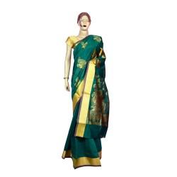 Buy Peacock Print Cotton Saree