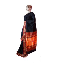 Buy Black Colored Original Silk Paithani Saree