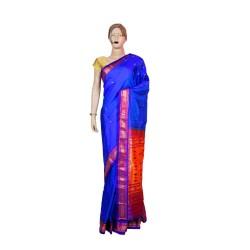 Buy Blue colored Original Paithani saree