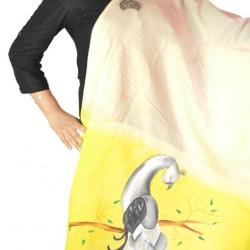 Buy hand painted khadi dupatta for women.