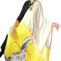 Buy hand painted khadi dupatta for women.