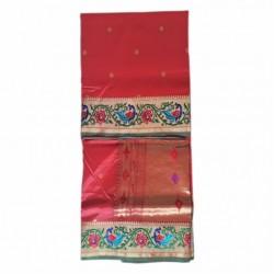 Semi Paithani Pink Green
